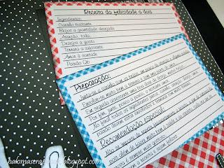 caderno de receitas personalizadoscrapbook