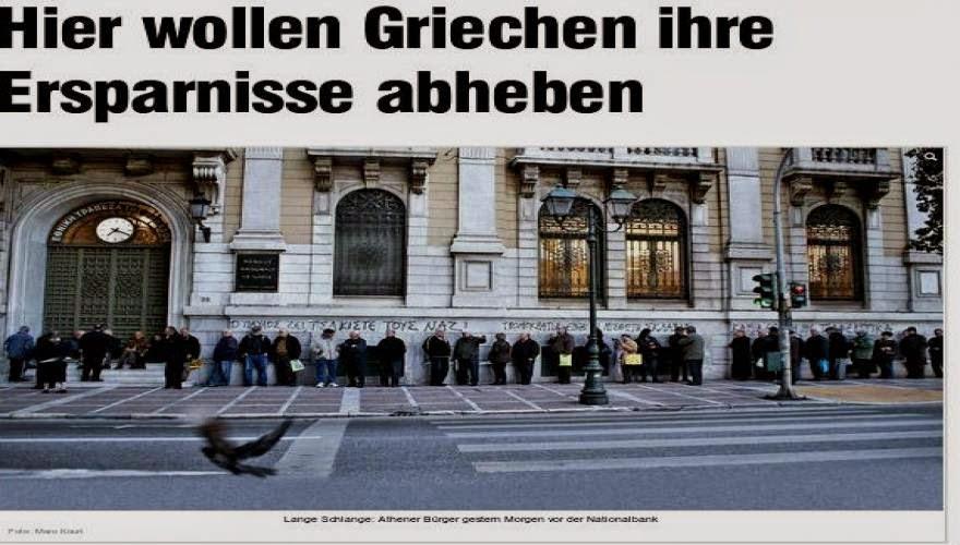 """Ο """"ΑΝΕΞΑΡΤΗΤΟΣ"""" ΚΑΙ """"ΕΓΚΥΡΟΣ"""" ΓΕΡΜΑΝΙΚΟΣ ΤΥΠΟΣ ΣΕ ΟΛΟ ΤΟΥ ΤΟ ΜΕΓΑΛΕΙΟ Νέα αλητεία από τους πράκτορες της Α.Μέρκελ - Bild: """"Φωτογράφισαν"""" bank run ενώ πήγαιναν να εισπράξουν τις συντάξεις"""