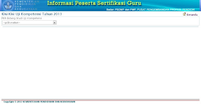 Download Kisi-Kisi Uji Kompetensi UK Sertifikasi Guru 2013