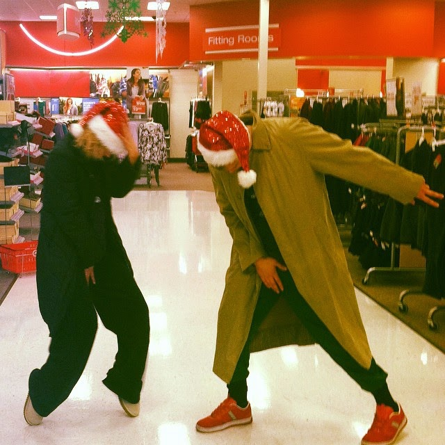 Lana and Her Brother Dancing in Target.