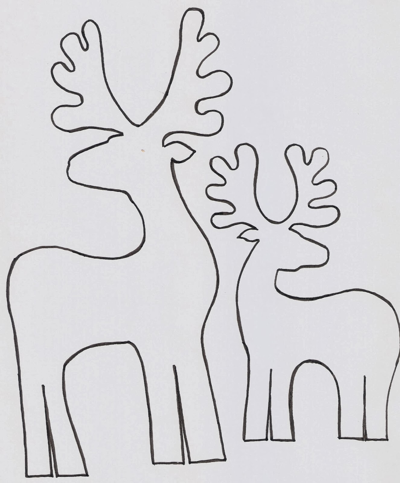 Maestra de Infantil: Los renos de Papá Noel para colorear