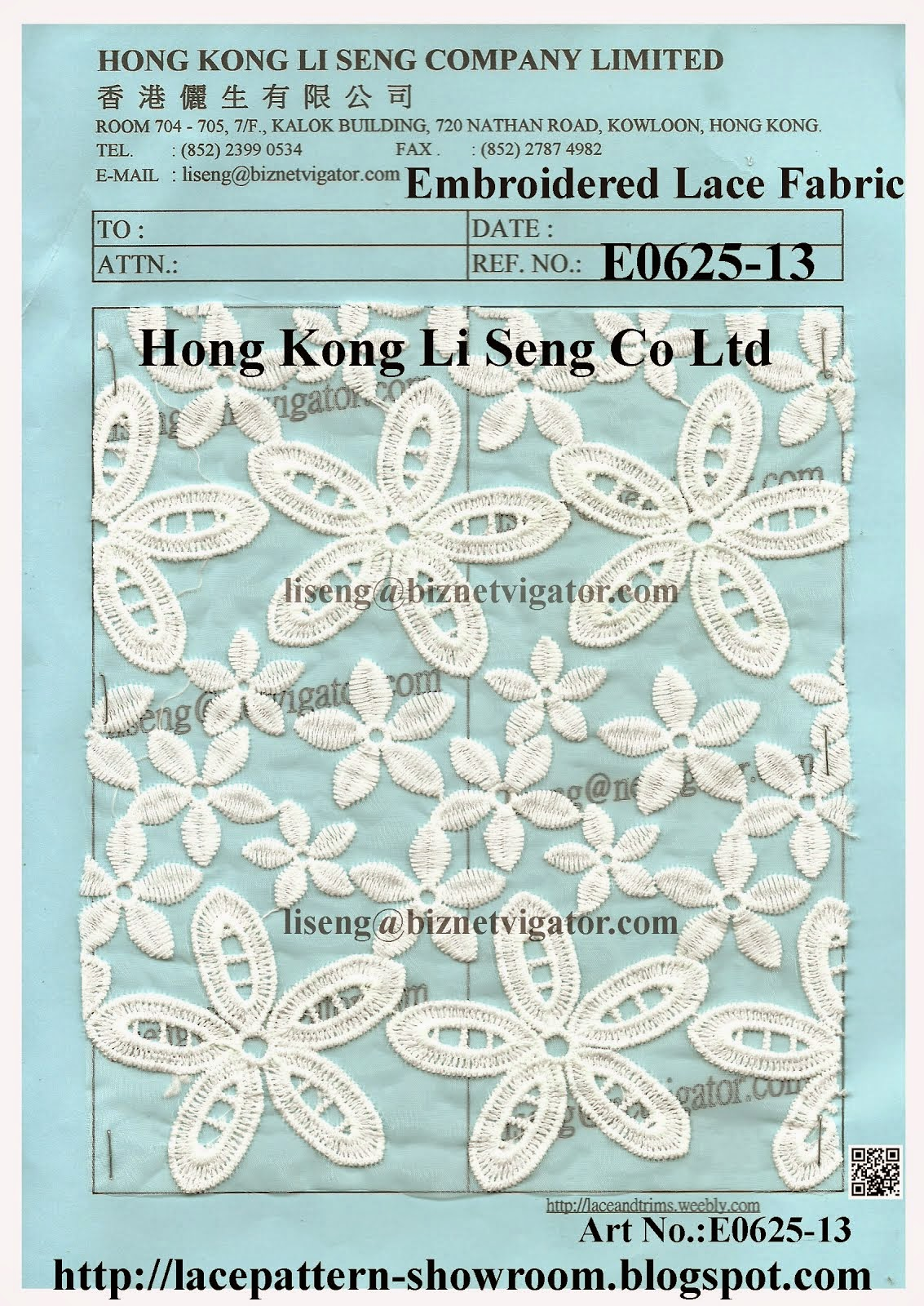 New Embroidered Net Lace Fabric Manufacturers Wholesale Supplier - Hong Kong Li Seng Co Ltd