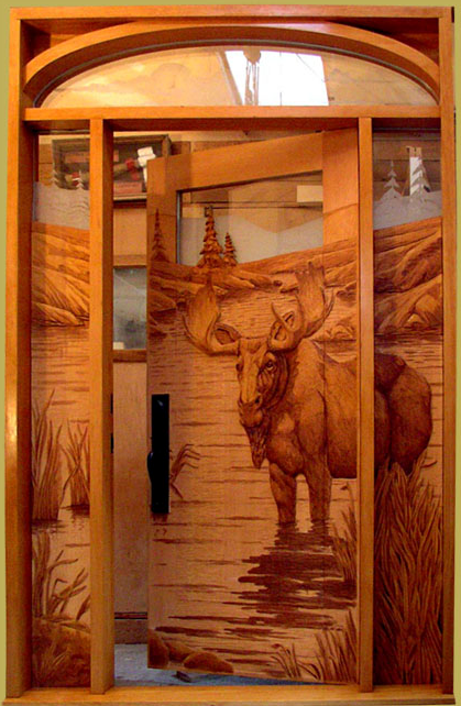 Wooden carving main doors model home interiors