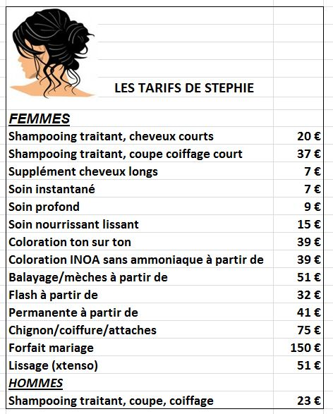 La coiffure a domicile poissy tarifs - Salon de coiffure franck provost tarifs ...