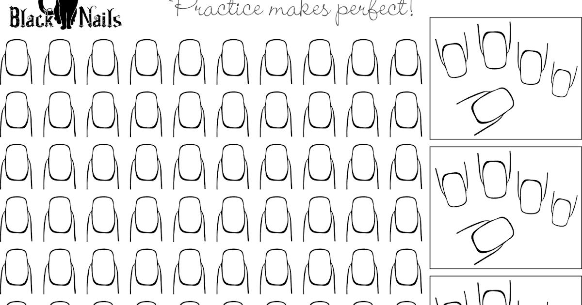 Dutchnailss Nail Art Practice Sheet