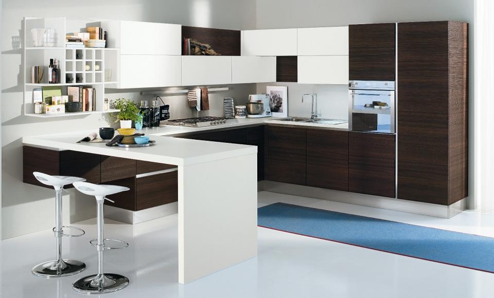 30 ideas de mesas y barras para comer en la cocina for Barras modernas