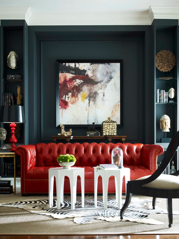 beautiful tufted chesterfield sofa in a contemporary setting take