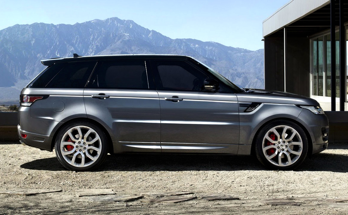 Land rover also debuted their all new range rover sport