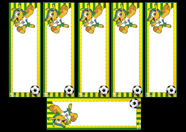 Marcador de Páginas Copa do  Mundo Fuleco