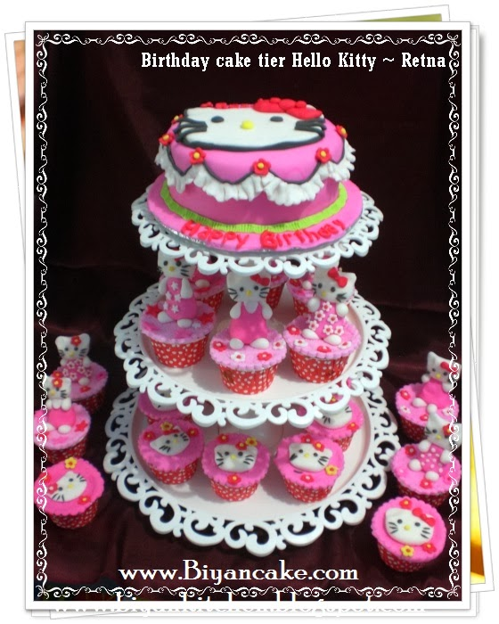 Cupcake tier Hello kitty