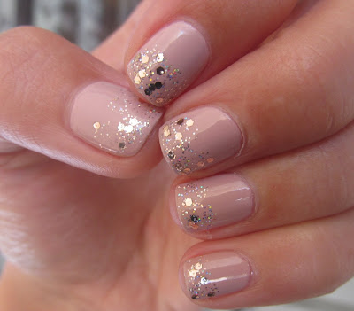Gade 800 - Pale Shell Glitter Gradient Barry M Rose Quartz