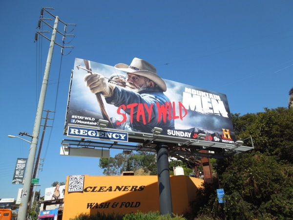Mountain Men season 2 extension billboard