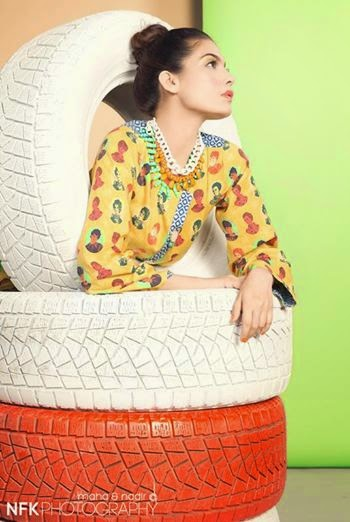 Amna Babar photo shoot for Zara Shahjahan