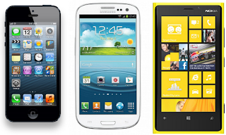 Samsung Galaxy Slll vs iPhone 5 vs Nokia Lumia 920