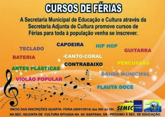 CURSOS DE FÉRIAS