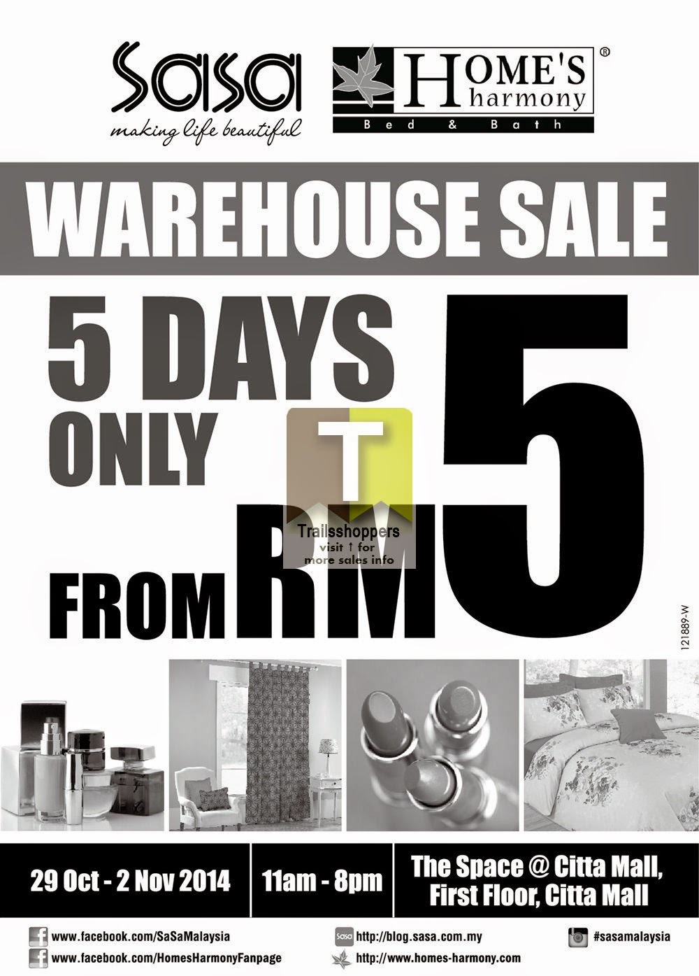 Sasa & Home's Harmony Warehouse Sale @ The Space, Citta Mall