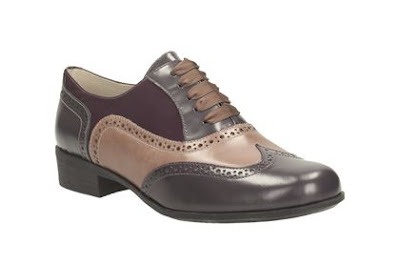 Clarks Purple Combi Brogue