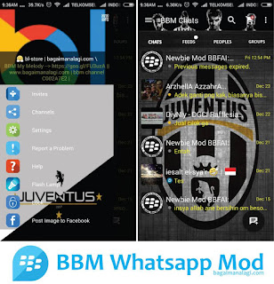 BBM Whatsapp Juventus MOD Apk