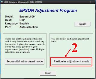 Resetter Epson L800