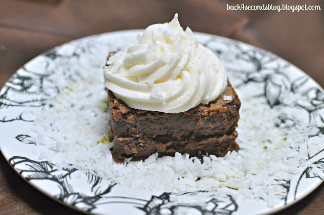 Double Decker Coconut Cream Brownies #brownies #coconut #frosting