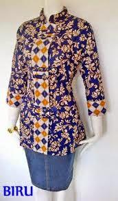 Desain baju batik kantor wanita 2015
