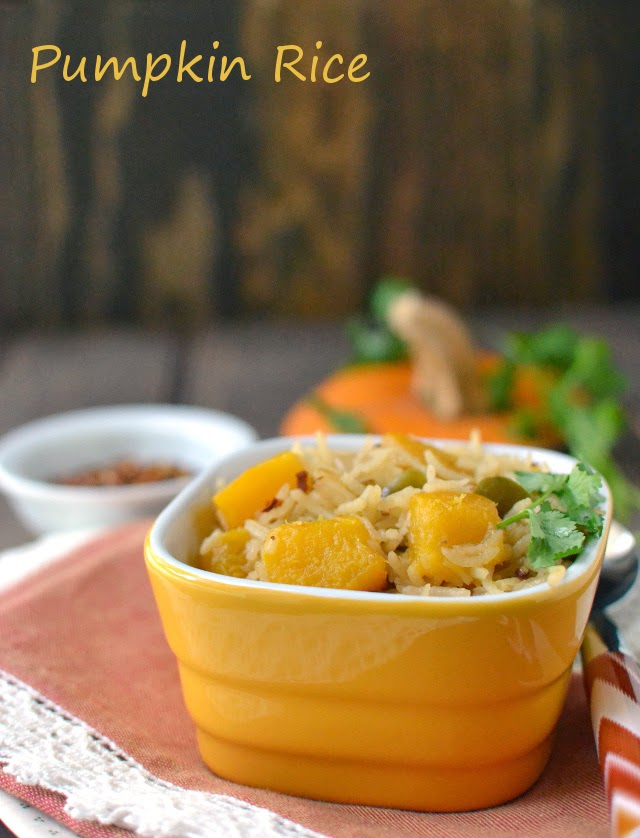 Pumpkin Rice for Thanksgiving (Arroz con Calabaza -- Vegan Recipe)