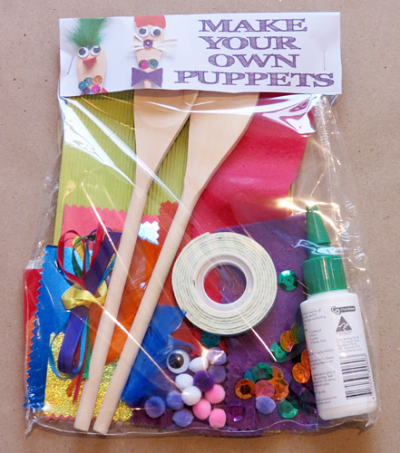 Puppy love preschool free diy puppet making craft kit for Craft kits for preschoolers