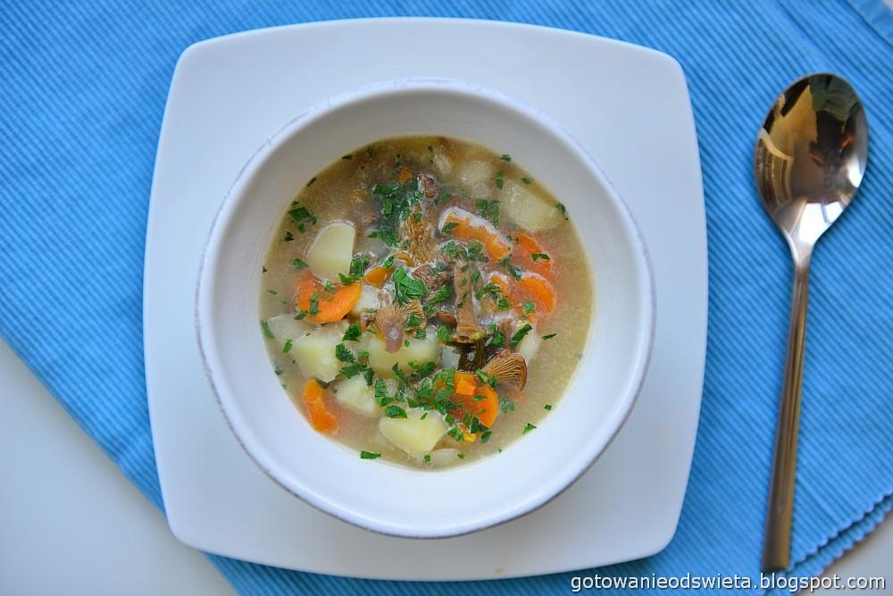Zupa grzybowa z kurek