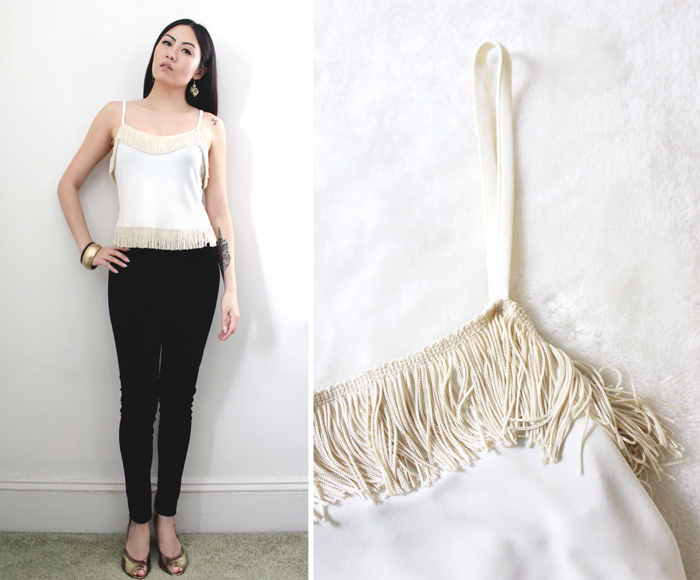 vintage moschino fringe top
