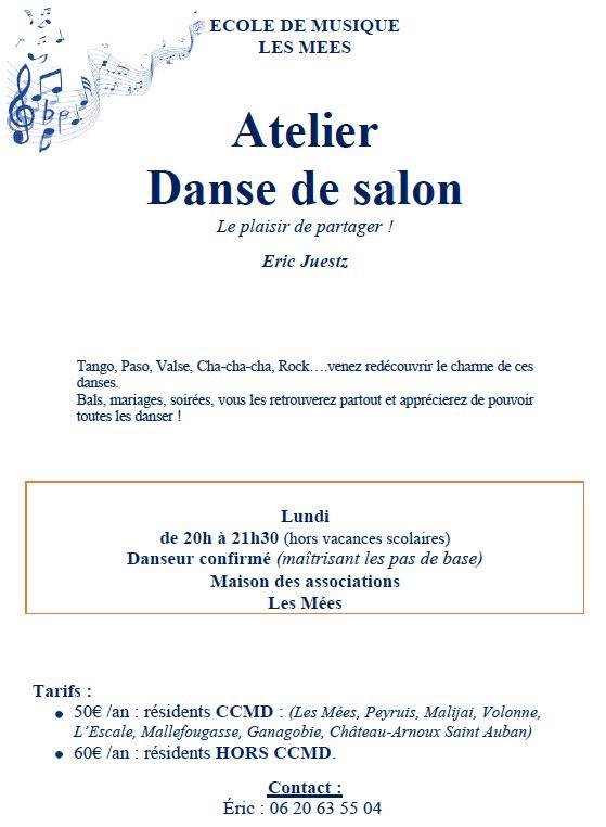 L 39 ecole de musique des m es atelier danse de salon - Musique danse de salon ...