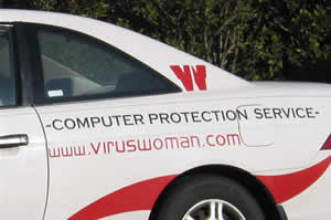 Virus woman to the rescue