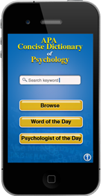 APA concise dictionary of psychology app