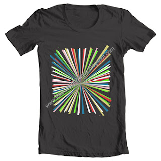 design-kaos-simple-elegant-t-shirt-warna-pelangi