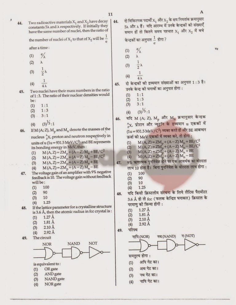 AIPMT 2008 Question Paper Page 11