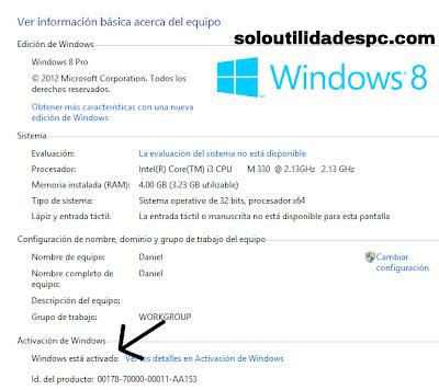 Serial para todos los windows 8 Clave de activacin