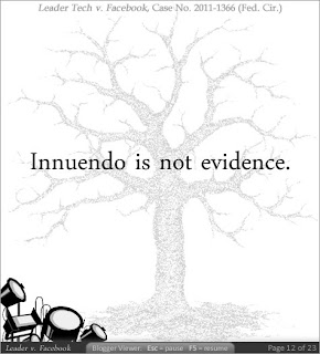 Innuendo is not evidence.