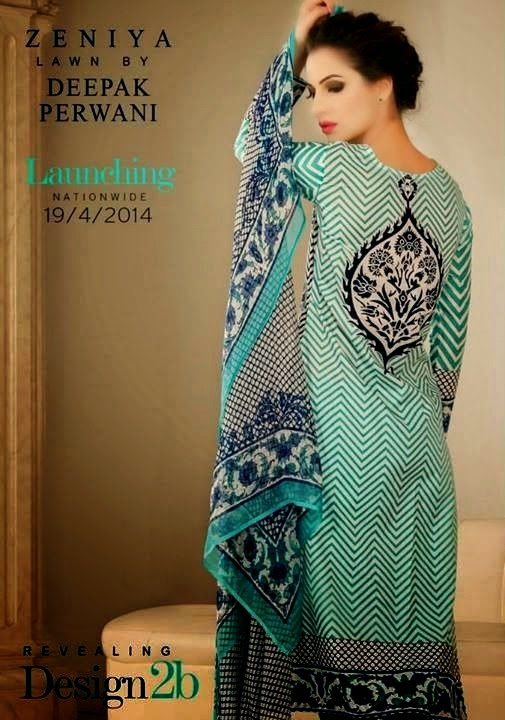 Latest Zeniya Lawn Collection 2014