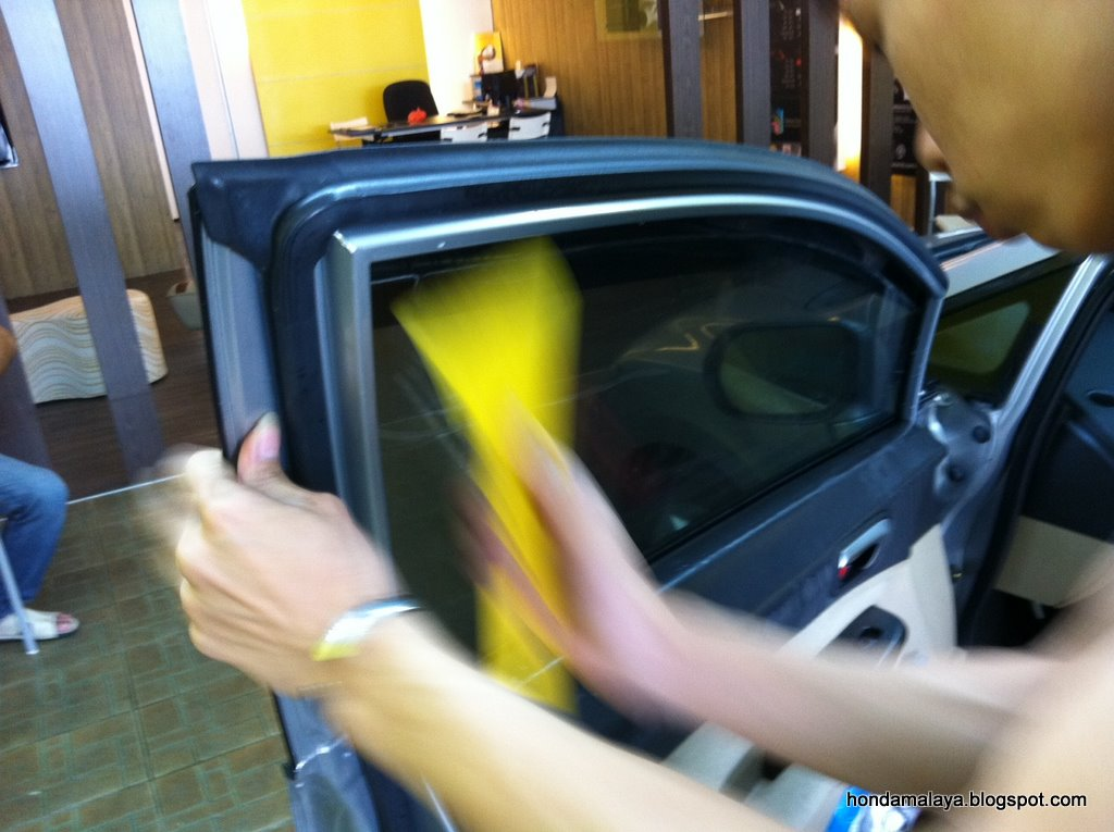 HondaMalaya  Windows Tinting with RhinePro at CoolWorld and