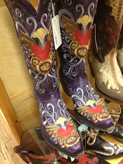 decorated boots on sale at Wall Drug