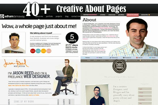 Creative About Pages That Will Inspire web designers