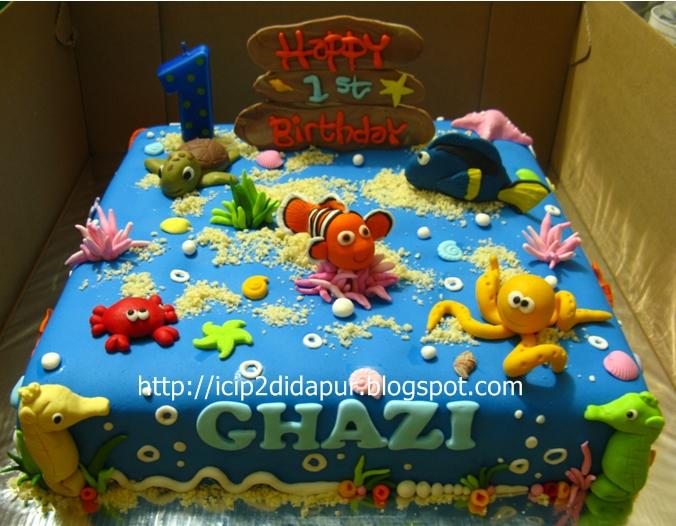 Taniya Finding Nemo Birthday Cake For Ghazi