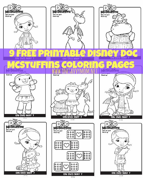 Free coloring pages of dr mcstuffins