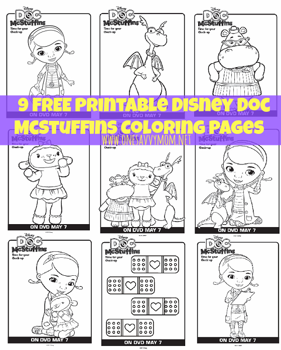 9 Free Disney Doc McStuffins Printable Coloring Pages
