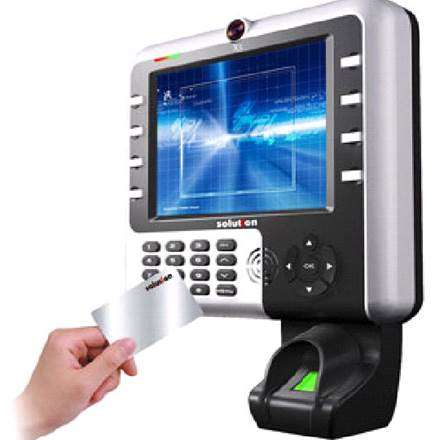 Gambar mesin absensi sidik jari fingerprint otomatis