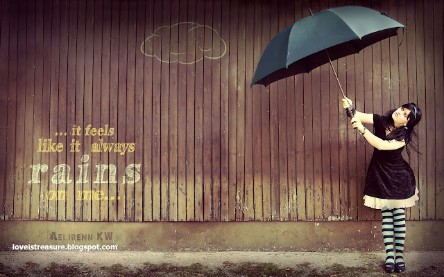 Rain wallpapers with quotes about love