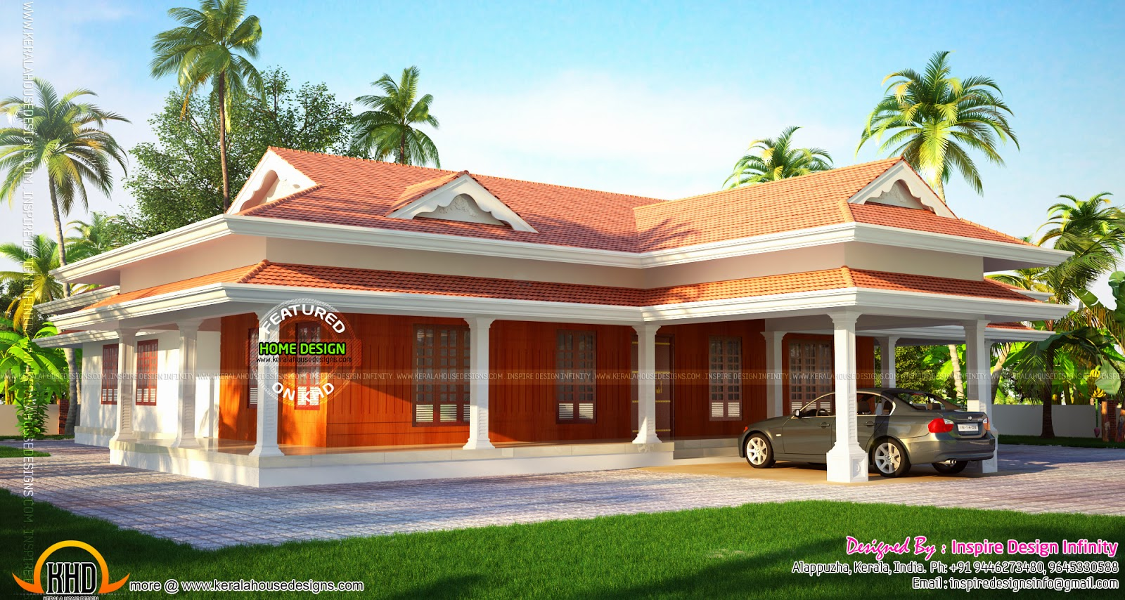 Beautiful Luxurious One Storied House Kerala Home Design