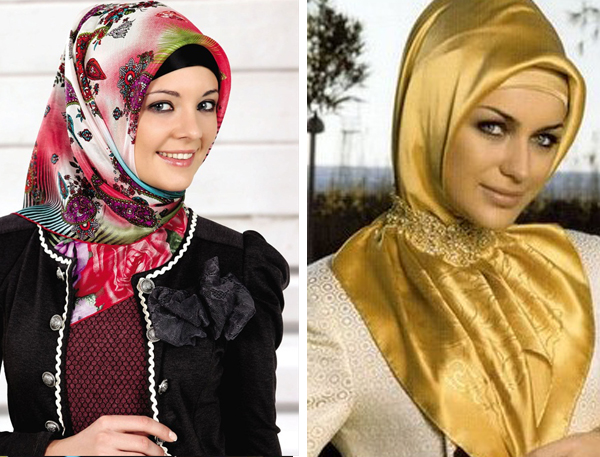 موضة المحجبات 2014 | لفات حجاب تركية بالإشارب الطويل