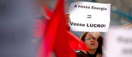 Portugal: Protestos à porta da assembleia-geral da EDP contra a privatização