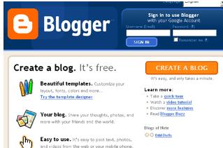 Create a Free Blog, blogspot, blogger