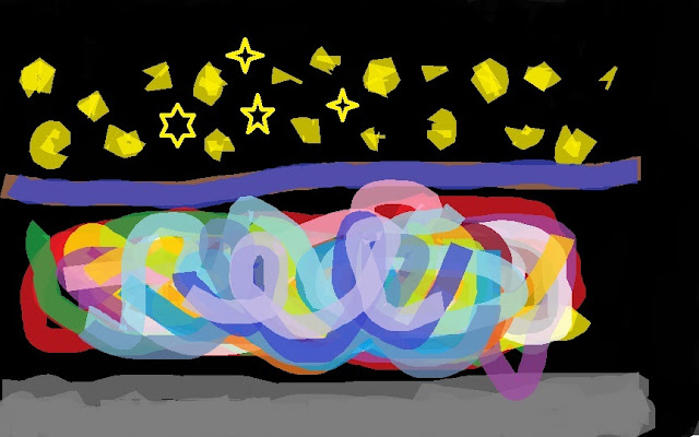 Волшебная ночь - рисунок девочки Насти